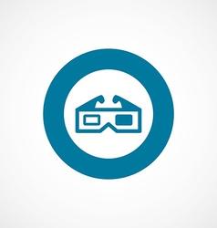 3d movie bold blue border circle icon vector image