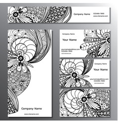 a brand book business cards flyers and vector image