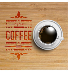 a realistic cup of coffee vector image