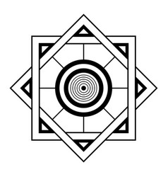 Abstract geometric symbol sacred geometry sign vector