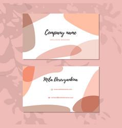 Abstract modern business card modern background vector