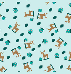 abstract seamless geometric pattern deer and vector image