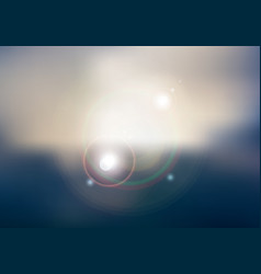 abstract sunset or sunrise sky and sun shining vector image