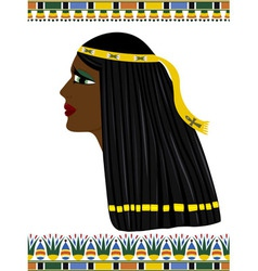 Ancient Egypt portrait of woman vector