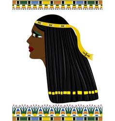 ancient egypt portrait woman vector image