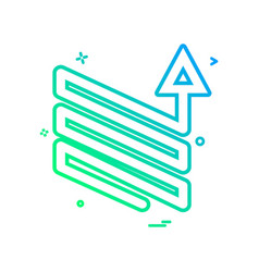 arrow downs up ups icon design vector image