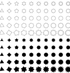 Black deformed polygon shape collection vector