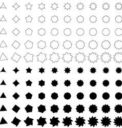 Black deformed polygon shape collection vector