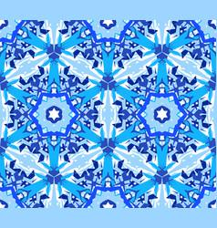 Blue flower fractal pattern vector