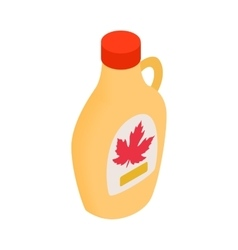 Bottle of maple syrup icon isometric 3d style vector