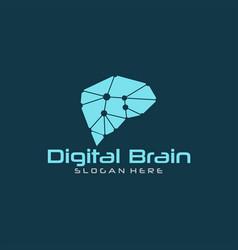 brain tech logo vector image