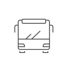 bus line icon or public transport concept vector image