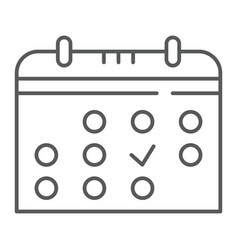 Calendar thin line icon month and date reminder vector