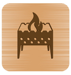 Camping brazier icon vector