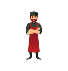 cheerful chef with arms crossed vector image