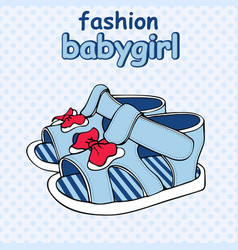 Colorful childrens sandals vector
