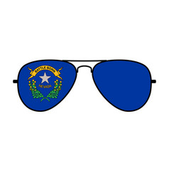 Cool aviator sunglasses with nevada state flag vector