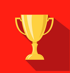 Cup hunting champion cartoon flat icon vector