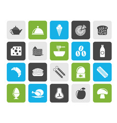 different kind of food and drinks icons 2 vector image