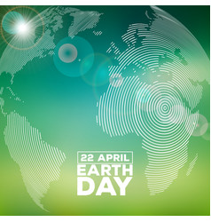 Earth day with abstract stripe vector