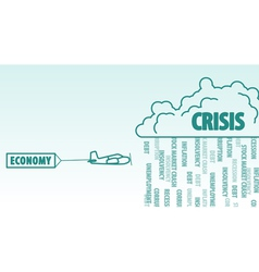 Economy and crisis vector image
