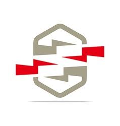 Electricity power icon design symbol abstract vector