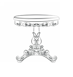 Elegant classic table in baroque style vector