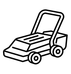 Farm lawnmower icon outline style vector