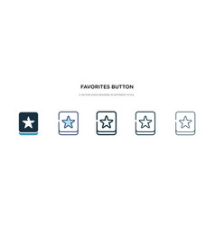 Favorites button icon in different style two vector