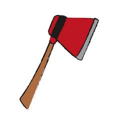 firefigther axe tool vector image