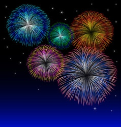 Fireworks background with star vector