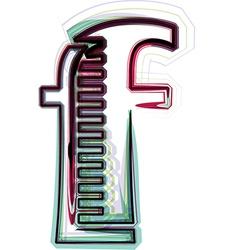 Font Letter f vector