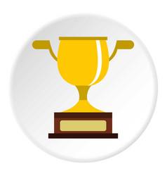Gold cup icon circle vector