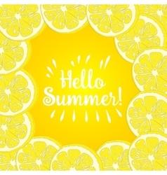 Hello Summer lemon vector image