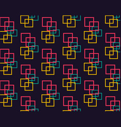 Intertwined bright squares on a dark background vector