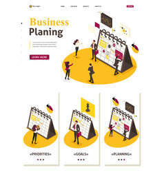 isometric strategic business planning vector image