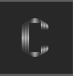 letter c initial logo 3d monogram logotype vector image