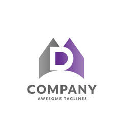 letter d colorful logo vector image