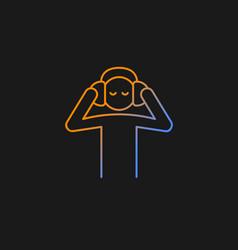 listen to music gradient icon for dark theme vector image