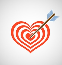 Logo heart as a target and arrow vector