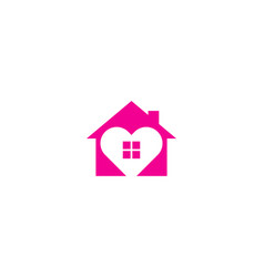 love house logo icon design vector image