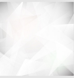 low polygon white abstract background vector image