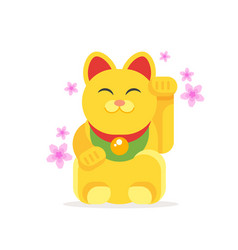 lucky cat maneki neko vector image