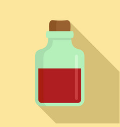 magic blood flask icon flat style vector image