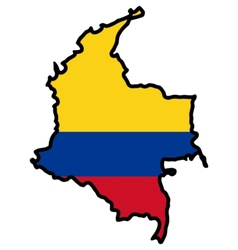 Map in colors of Colombia vector