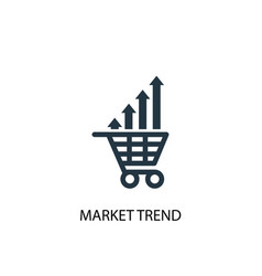 Market trend icon simple element vector