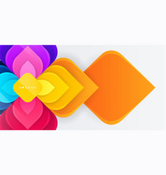 modern colorful geometric flower with square vector image