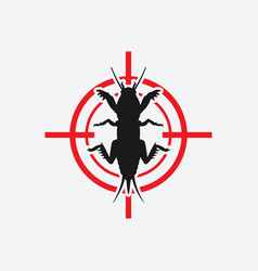 Mole cricket icon red target vector