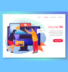 online tv streaming video services website banner vector image