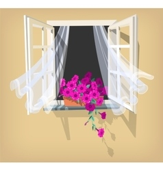 Open window vector image